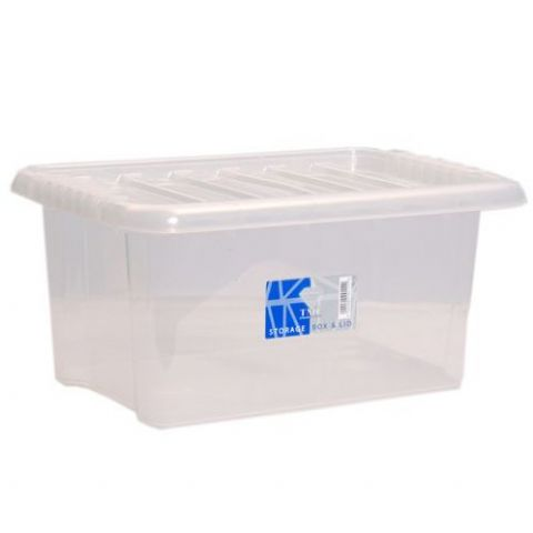 Plastic Medium Storage Box & Lid 14L